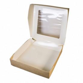 Коробка для пряников 21*21*4 с окном