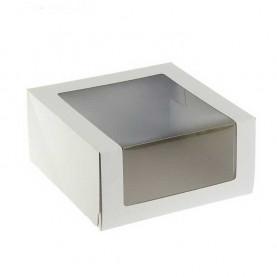 Короб белый 22,5*22,5*11 см с окном