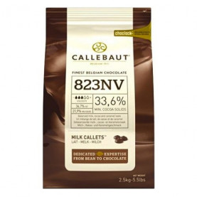Шоколад молочный 33,6% Callebaut в галетах, 200 гр