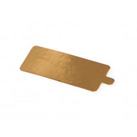 Подложка с держателем прямоугольная 130*40 золото 0.8 мм